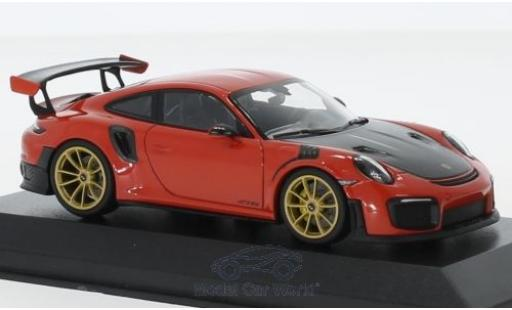Porsche 991 GT2 RS 1/43 Minichamps 911 (.2) GT2RS orange 2018 miniature