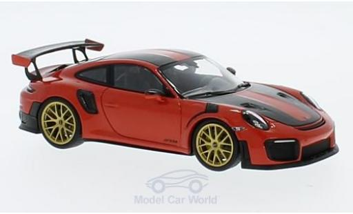 Porsche 991 GT2 RS 1/43 Minichamps 911 (.2) GT2RS orange 2018 Weissach Package miniature
