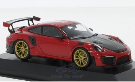 Porsche 991 GT2 RS 1/43 Minichamps 911 (.2) GT2RS rouge 2018 miniature