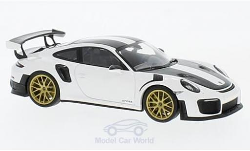 Porsche 991 GT2 RS 1/43 Minichamps 911 (.2) GT2RS white 2018 Weissach-Package diecast model cars