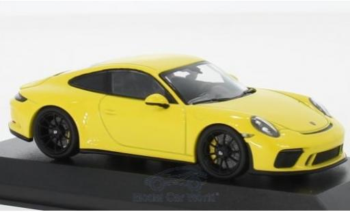 Porsche 991 GT3 1/43 Minichamps 911 (.2) Touring yellow 2018 diecast model cars