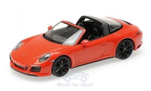 Porsche 991 Targa 1/43 Minichamps 911 (.2) 4 GTS orange 2016 diecast model cars
