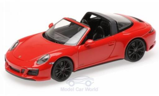 Porsche 991 Targa 1/43 Minichamps 911 (.2) 4 GTS red 2016 diecast model cars