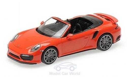 Porsche 991 Turbo S 1/43 Minichamps 911 (.2) Cabriolet orange 2016 diecast model cars