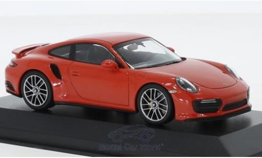 Porsche 991 Turbo S 1/43 Minichamps 911 (.2) orange 2017 diecast model cars
