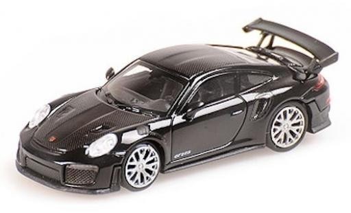 Porsche 991 GT2 RS 1/87 Minichamps 911  black 2018 mit Carbon-Streifen diecast model cars