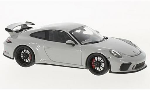 Porsche 991 GT3 1/43 Minichamps 911  grey 2017 diecast model cars