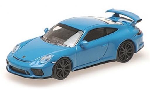 Porsche 991 GT3 1/87 Minichamps 911  bleue 2017 miniature