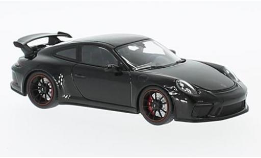 Porsche 991 GT3 1/18 Minichamps 911  metallise noire 2017 miniature