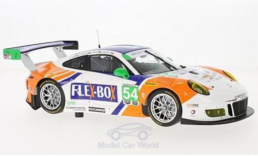 Porsche 991 GT3 R 1/18 Minichamps 911  No.54 Core Autosport Flex-Box 24h Daytona 2017 J.Bennett/C.Braun/P.Long/N.Jönsson miniature