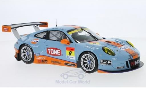 Porsche 991 GT3 R 1/18 Minichamps 911  No.9 Pacific With Gulf Racing Gulf Super GT 300 2017 L. Jono/M. Kyosuke diecast model cars