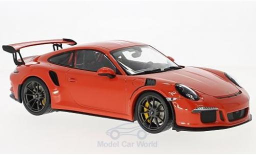 Porsche 991 GT3 RS 1/18 Minichamps 911  orange 2015 miniature