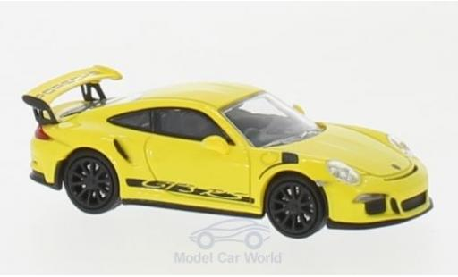 Porsche 991 GT3 RS 1/87 Minichamps 911  yellow/black 2013 diecast model cars