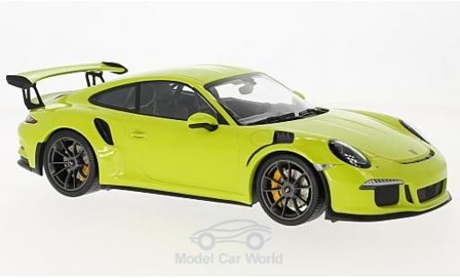 Porsche 991 GT3 RS 1/18 Minichamps 911  green 2015 diecast model cars