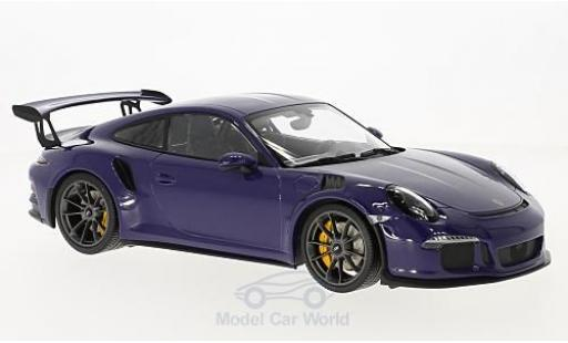 Porsche 991 GT3 RS 1/18 Minichamps 911  purple 2015 diecast model cars