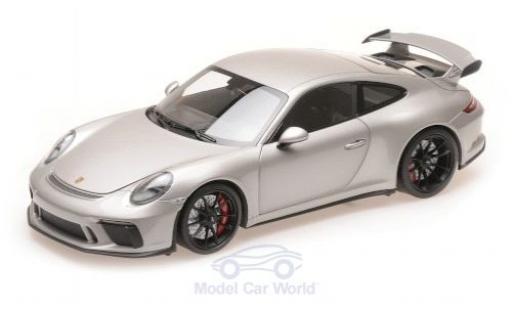 Porsche 991 GT3 1/18 Minichamps 911  grey 2017 diecast model cars