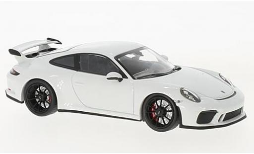Porsche 991 GT3 1/43 Minichamps 911  white 2017 diecast model cars