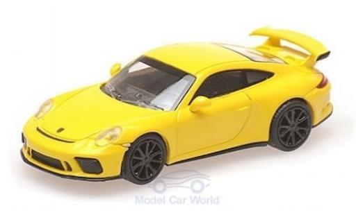 Porsche 911 1/87 Minichamps (991 II) GT3 jaune 2017 miniature