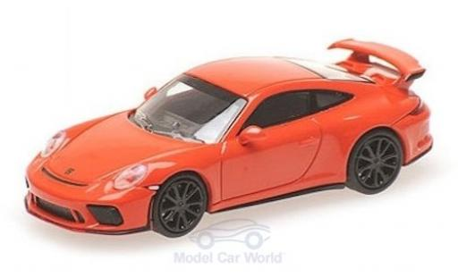 Porsche 991 GT3 1/87 Minichamps 911 ( II) orange 2017 miniature