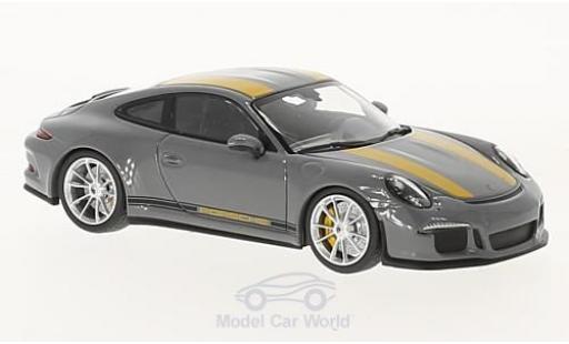 Porsche 991 R 1/43 Minichamps 911  grise/jaune 2016 miniature