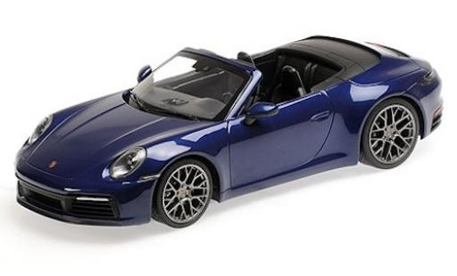 Porsche 992 4S 1/18 Minichamps 911  Carrera Cabriolet metallise bleue 2019 miniature