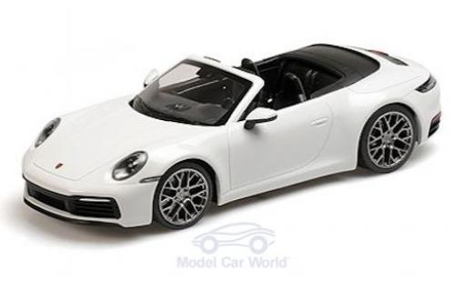 Porsche 911 1/18 Minichamps (992) Carrera 4S Cabriolet blanco 2019 miniatura
