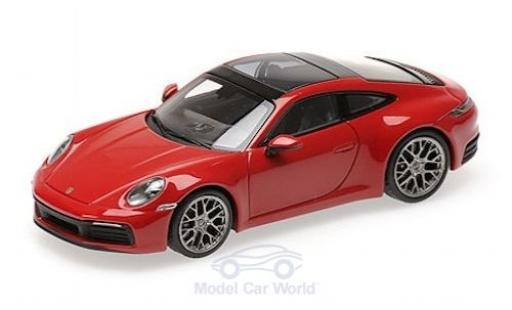 Porsche 992 4S 1/43 Minichamps 911  Carrera rouge 2019 miniature
