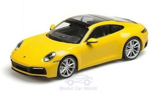 Porsche 992 4S 1/18 Minichamps 911  Carrera yellow 2019 diecast model cars