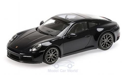 Porsche 992 4S 1/18 Minichamps 911  Carrera metallise bleue 2019 miniature