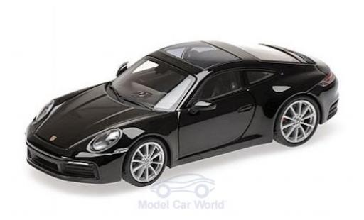 Porsche 992 4S 1/43 Minichamps 911  Carrera metallise black 2019 diecast model cars