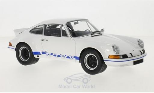 Porsche 911 SC 1/18 Minichamps Carrera RSR 2.7 white/blue 1973 diecast model cars