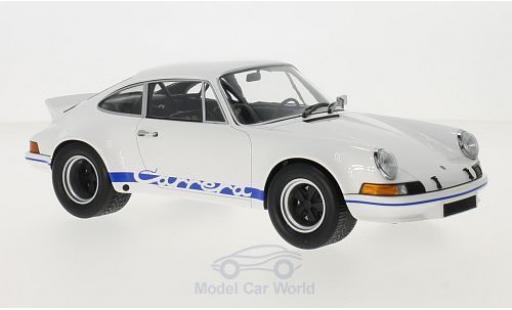Porsche 911 SC 1/18 Minichamps Carrera R 2.7 blanche/bleue 1973 miniature