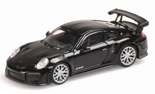 Porsche 991 GT2 RS 1/87 Minichamps 911 black 2018 avec Carbon-Capot diecast model cars