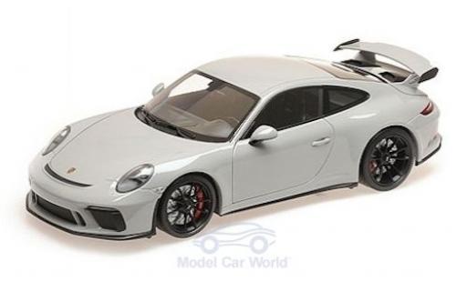 Porsche 911 1/18 Minichamps GT3 gris 2017 miniatura