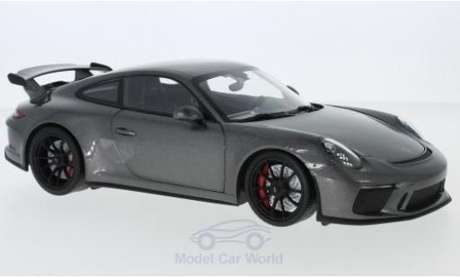 Porsche 991 GT3 1/18 Minichamps 911 metallise grey 2017 diecast model cars