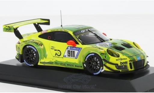 Porsche 911 1/43 Minichamps GT3 R (991) No. Manthey Racing 24h Nürburgring 2018 K.Estre/R.Dumas/J.Vanthoor/E.Bamber miniature
