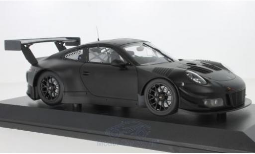 Porsche 991 GT3 R 1/18 Minichamps 911 matt-noire 2018 Plainbody Version miniature