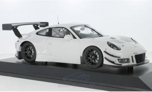 Porsche 991 GT3 R 1/18 Minichamps 911 blanche 2018 Plainbody Version miniature