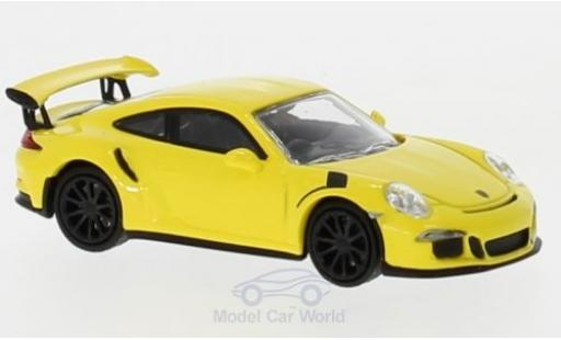 Porsche 991 GT3 RS 1/87 Minichamps 911 yellow 2015 diecast model cars