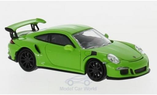 Porsche 991 GT3 RS 1/87 Minichamps 911 green 2015 diecast model cars
