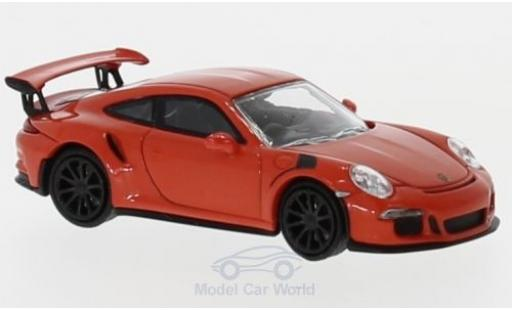 Porsche 991 GT3 RS 1/87 Minichamps 911 orange 2015 diecast model cars