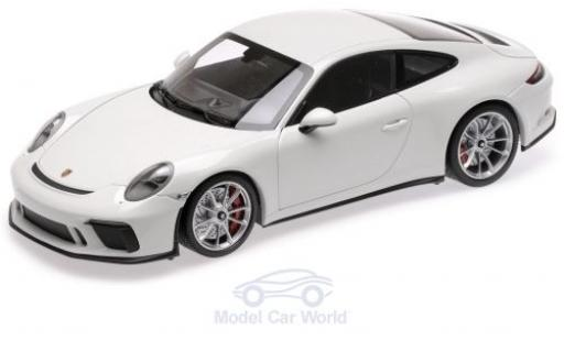 Porsche 991 GT3 1/18 Minichamps 911 Touring blanche 2018 miniature