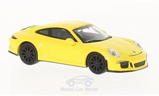 Porsche 991 SC 1/87 Minichamps R jaune 2016 mit noireen Felgen miniature