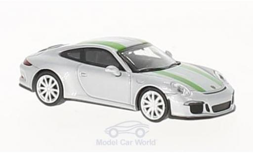 Porsche 991 R 1/87 Minichamps 911 grey/green 2016 diecast model cars