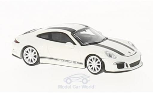 Porsche 991 R 1/87 Minichamps 911 white/black 2016 diecast model cars