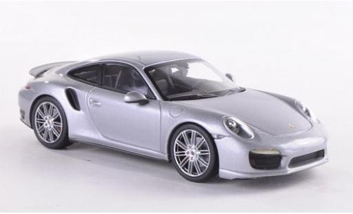 Porsche 991 Turbo 1/43 Minichamps 911  grey 2013 diecast model cars