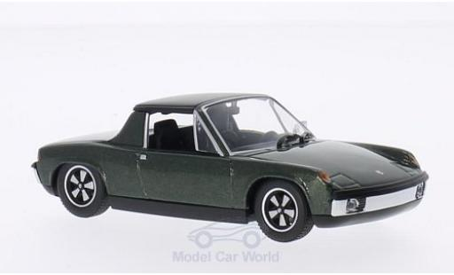 Porsche 914 1/43 Minichamps /6 metallise green 1970 diecast model cars