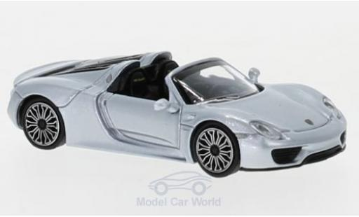Porsche 918 1/87 Minichamps Spyder grey 2015 diecast model cars