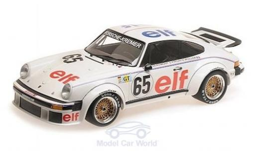 Porsche 934 1/12 Minichamps No.65 -Kremer Racing Elf 24h Le Mans 1976 B.Wollek/D.Pironi/M.-C.Beaumont miniature