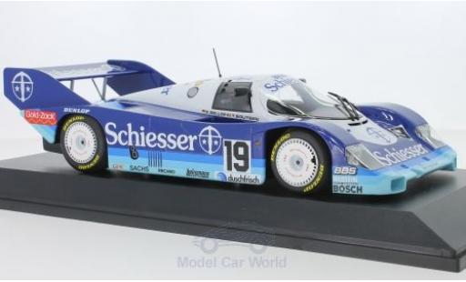 Porsche 956 1985 1/18 Minichamps K No.19 Brun Racing Schiesser 1000 Km Hockenheim S.Bellof/T.Boutsen miniature
